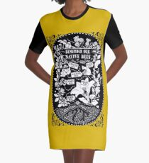 Our Native Bees Graphic T-Shirt Dress