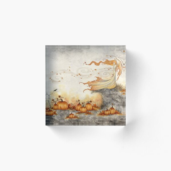Whispers in the Pumpkin Patch Acrylic Block