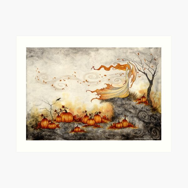 Whispers in the Pumpkin Patch Art Print