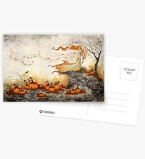 Whispers in the Pumpkin Patch Postcards