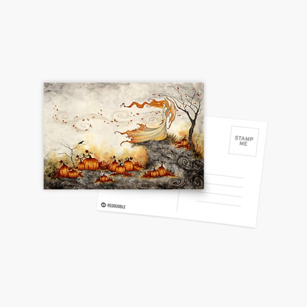 Whispers in the Pumpkin Patch Postcard