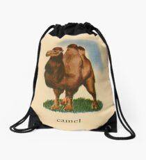 C is for Camel Drawstring Bag