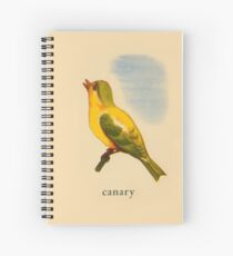 C is for Canary Spiral Notebook