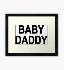 Baby Daddy Father Newborn Child Dad Kid Framed Print