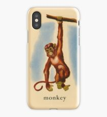 M is for Monkey iPhone Case