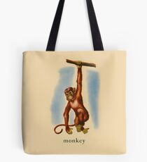 M is for Monkey Tote Bag