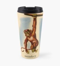 M is for Monkey Travel Mug
