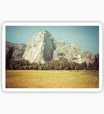 Mountains and Forest - El Capitan in Yosemite National Park Sticker