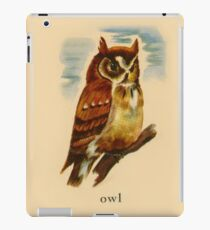 O is for Owl iPad Case/Skin
