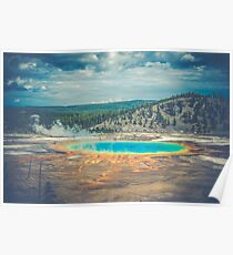 Water Forest - Grand Prismatic Spring at Yellowstone National Park Poster
