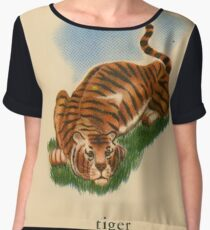 T is for Tiger Chiffon Top