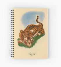T is for Tiger Spiral Notebook