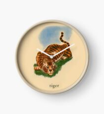 T is for Tiger Clock