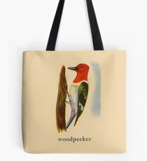W is for Woodpecker Tote Bag