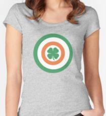 Captain Ireland Shield – Irish, America Women's Fitted Scoop T-Shirt
