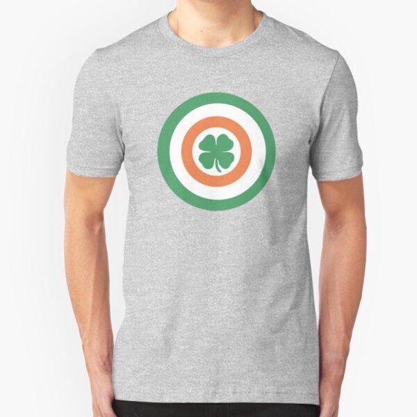 Captain Ireland Shield – Irish, America Slim Fit T-Shirt