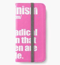 Feminism Definition iPhone Wallet/Case/Skin