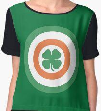 Captain Ireland Shield – Irish, America Women's Chiffon Top