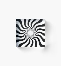 Spiral black white Acrylic Block