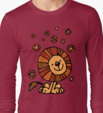 Cute Cartoon Lion Dream by Cheerful Madness!! Long Sleeve T-Shirt