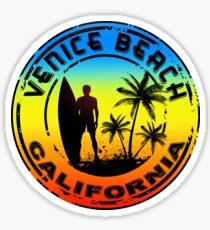 SURFING VENICE BEACH CALIFORNIA SURF BEACH VACATION PALM TREE  Sticker