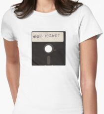 Never Forget Computer Floppy Disks Women's Fitted T-Shirt