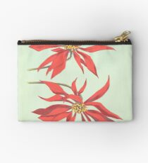 Red Flowers Studio Pouch