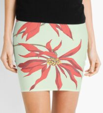Red Flowers Mini Skirt