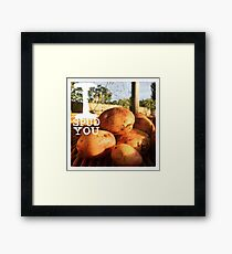 "I Love You ""I Spud You"" Humor  Framed Print"