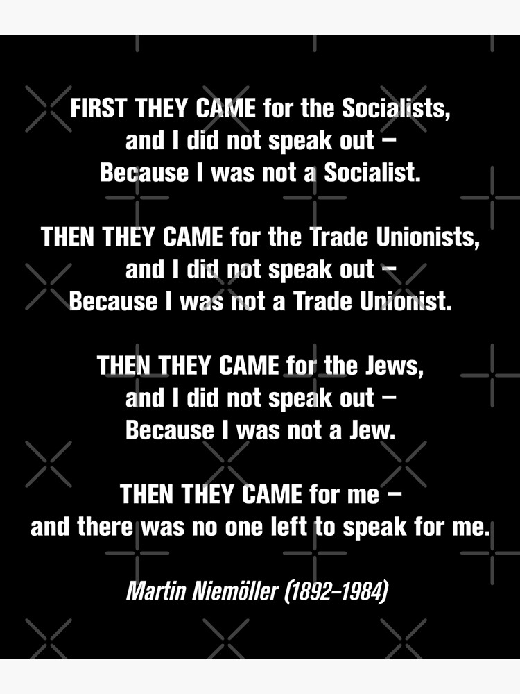 First they came for... by f22design