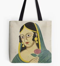 Indian Lady Tote Bag