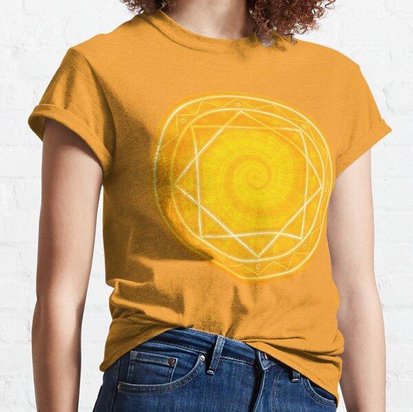 Pure energy. Yellow mandala circle Classic T-Shirt