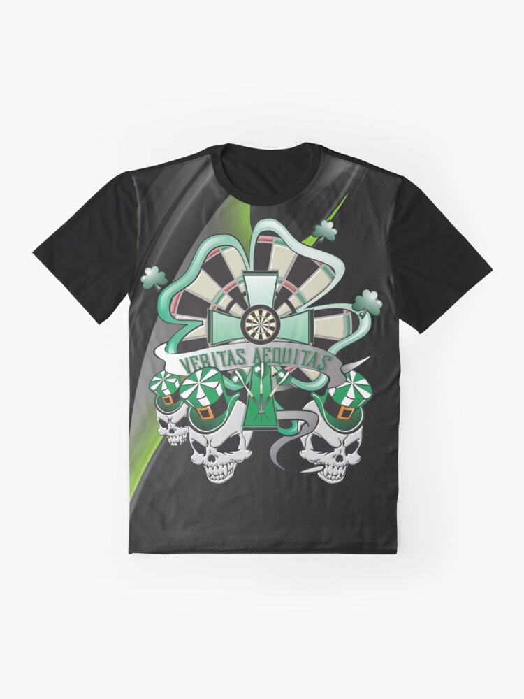 Alternate view of Veritas Aequitas Darts Shirt Graphic T-Shirt