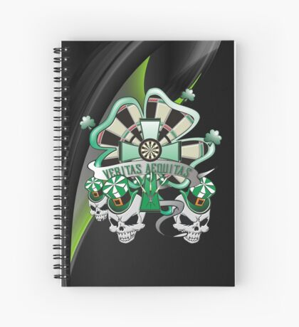 Veritas Aequitas Darts Shirt Spiral Notebook