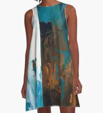 Blue and Gold - What Do You See A-Line Dress