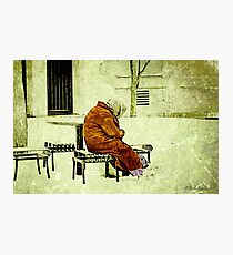 """Old. Cold. Alone.""... prints and products Photographic Print"