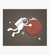 Grover goes to Mars Photographic Print