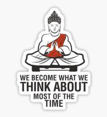 Buddah Meditation Sticker