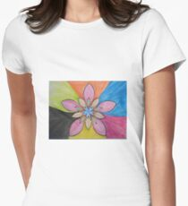 psychedelic flower Women's Fitted T-Shirt