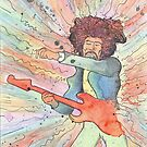 hendrix - watercolor by Oliveira37