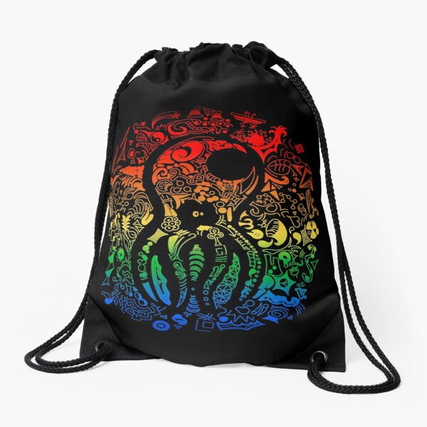Psychoctopus Drawstring Bag