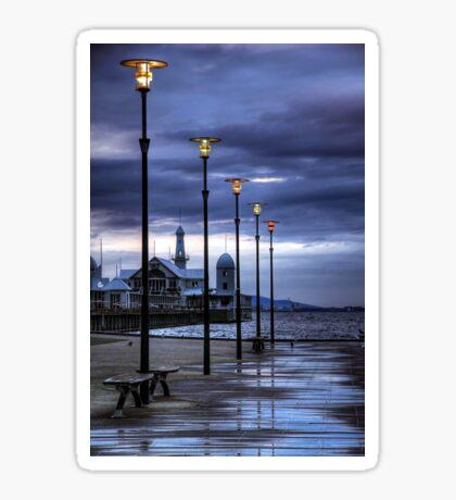 Early Morning Light over Cunningham Pier Sticker