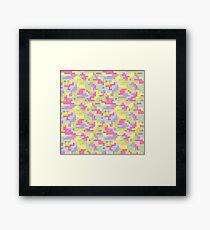 Pixel Barf Framed Print