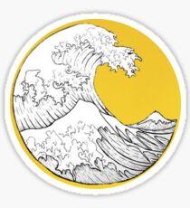 Große Welle Sticker
