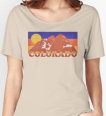 Colorado Mountains Retro 70s Women's Relaxed Fit T-Shirt