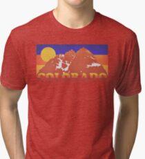 Colorado Mountains Retro 70s Tri-blend T-Shirt