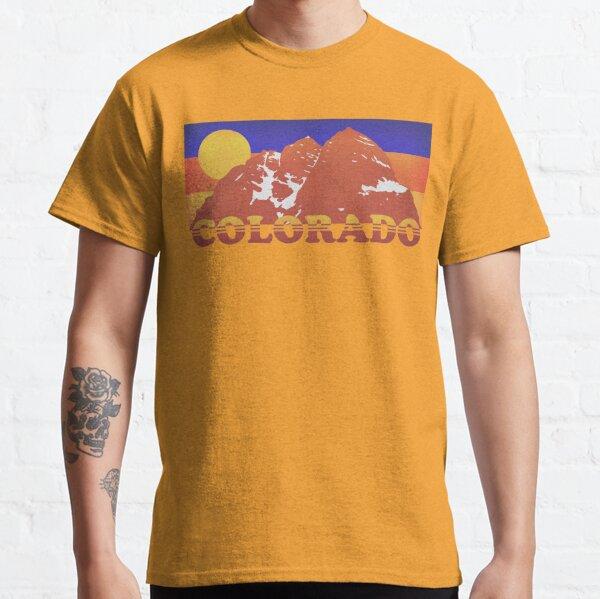Colorado Mountains Retro 70s Classic T-Shirt