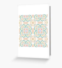 Vector ceramic tiles with seamless pattern Greeting Card