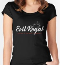 Evil Regal - White Women's Fitted Scoop T-Shirt