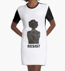 Princess Leia - Resist Graphic T-Shirt Dress